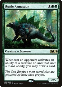 Runic Armasaur, Magic: The Gathering, Prerelease Cards