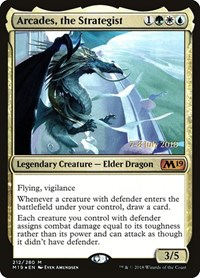 Arcades, the Strategist, Magic: The Gathering, Prerelease Cards