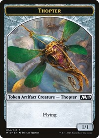 Thopter Token, Magic, Core Set 2019