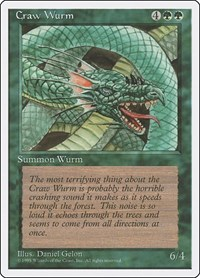 Craw Wurm, Magic: The Gathering, Fourth Edition