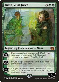 Nissa, Vital Force (SDCC 2018 Exclusive), Magic: The Gathering, Media Promos
