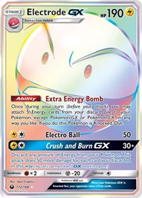 Electrode GX (Secret), Pokemon, SM - Celestial Storm