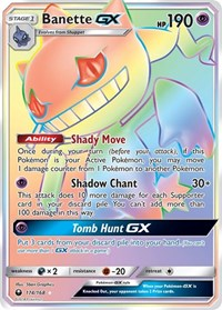 Banette GX (Secret), Pokemon, SM - Celestial Storm