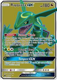 Rayquaza GX (Full Art), Pokemon, SM - Celestial Storm