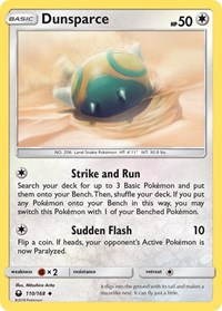Dunsparce, Pokemon, SM - Celestial Storm