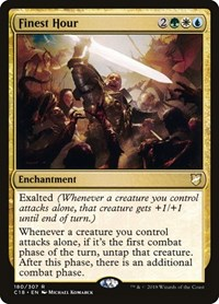 Finest Hour, Magic: The Gathering, Commander 2018