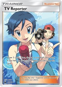 TV Reporter (Full Art), Pokemon, SM - Celestial Storm