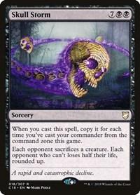 Skull Storm, Magic: The Gathering, Commander 2018