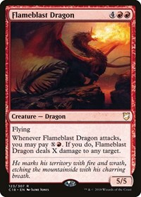 Flameblast Dragon, Magic: The Gathering, Commander 2018