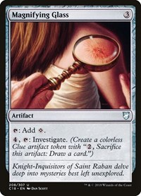 Magnifying Glass, Magic: The Gathering, Commander 2018
