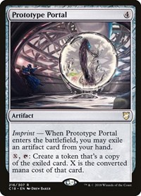 Prototype Portal, Magic: The Gathering, Commander 2018