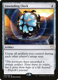 Unwinding Clock, Magic, Commander 2018