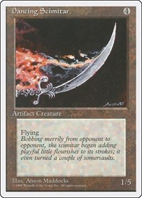 Dancing Scimitar, Magic: The Gathering, Fourth Edition