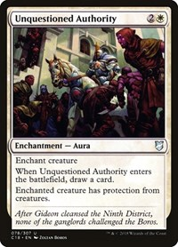 Unquestioned Authority, Magic: The Gathering, Commander 2018