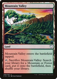 Mountain Valley, Magic: The Gathering, Commander 2018