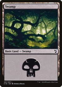Swamp (301), Magic: The Gathering, Commander 2018