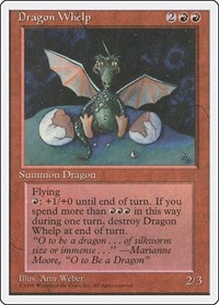 Dragon Whelp, Magic: The Gathering, Fourth Edition