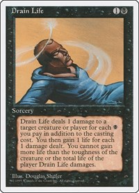 Drain Life, Magic, Fourth Edition
