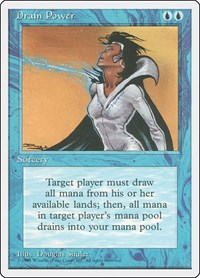 Drain Power, Magic: The Gathering, Fourth Edition