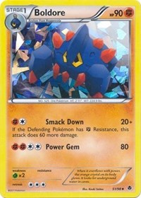 Boldore (Cracked Ice Holo)  - 51/98 Emerging Powers, Pokemon, Blister Exclusives
