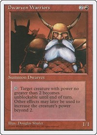 Dwarven Warriors, Magic: The Gathering, Fourth Edition