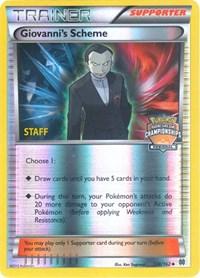 Giovanni's Scheme - 138/162 (Championship Promo) [Staff], Pokemon, League & Championship Cards