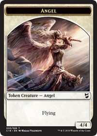 Angel // Soldier Double-sided Token, Magic: The Gathering, Commander 2018