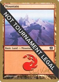 Mountain (344) - 2003 Wolfgang Eder (8ED), Magic: The Gathering, World Championship Decks