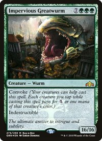 Impervious Greatwurm, Magic: The Gathering, Buy-A-Box Promos