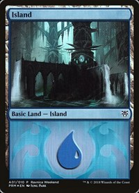 Island - Dimir (A01), Magic: The Gathering, Launch Party & Release Event Promos
