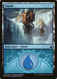 Island - Izzet (A03), Magic: The Gathering, Launch Party & Release Event Promos