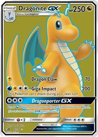 Dragonite GX (Full Art), Pokemon, Dragon Majesty