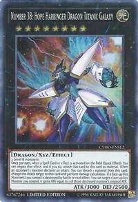 Number 38: Hope Harbinger Dragon Titanic Galaxy, YuGiOh, Cybernetic Horizon