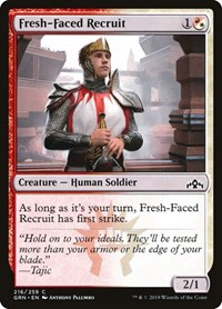 Fresh-Faced Recruit, Magic: The Gathering, Guilds of Ravnica