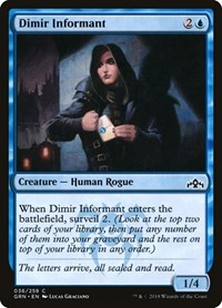 Dimir Informant, Magic: The Gathering, Guilds of Ravnica