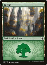 Forest (127), Magic: The Gathering, Guilds of Ravnica: Guild Kits