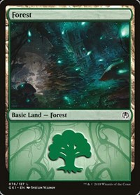 Forest (76), Magic: The Gathering, Guilds of Ravnica: Guild Kits