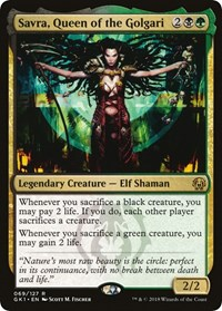 Savra, Queen of the Golgari, Magic: The Gathering, Guilds of Ravnica: Guild Kits