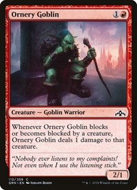 Ornery Goblin, Magic, Guilds of Ravnica