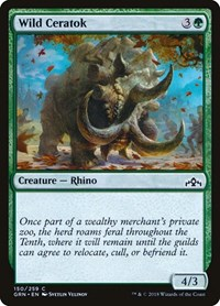 Wild Ceratok, Magic: The Gathering, Guilds of Ravnica