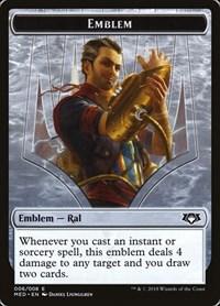 Emblem - Ral, Izzet Viceroy, Magic: The Gathering, Mythic Edition: Guilds of Ravnica