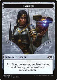 Emblem - Elspeth, Knight-Errant, Magic: The Gathering, Mythic Edition: Guilds of Ravnica