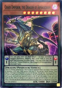 Chaos Emperor, the Dragon of Armageddon (SR), YuGiOh, Yu-Gi-Oh! Championship Series Prize Cards