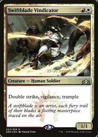 Swiftblade Vindicator, Magic, Prerelease Cards