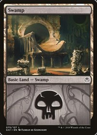 Swamp (75), Magic: The Gathering, Guilds of Ravnica: Guild Kits