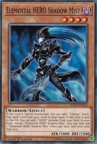 Elemental HERO Shadow Mist, YuGiOh, Legendary Hero Decks