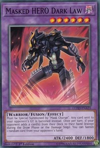 Masked HERO Dark Law, YuGiOh, Legendary Hero Decks