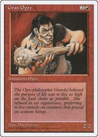 Gray Ogre, Magic: The Gathering, Fourth Edition