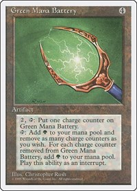 Green Mana Battery, Magic: The Gathering, Fourth Edition