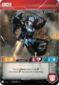 Arcee - Skilled Fighter, Transformers TCG, Wave 1